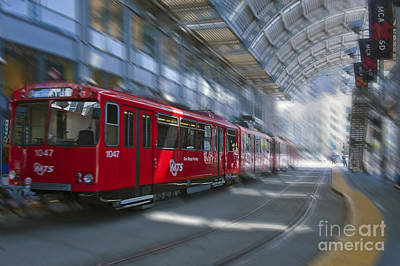 Photograph - San Diego Trolley Light Rail System by David Zanzinger