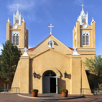 Albuquerque New Mexico Photograph - San Felipe Church - Old Town Albuquerque   by Mike McGlothlen