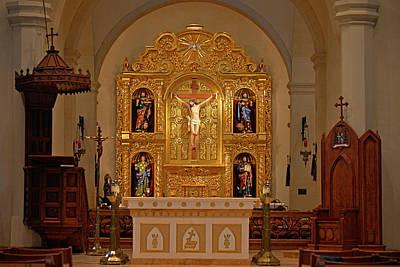 San Fernando Cathedral Retablo Art Print by Christine Till