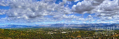 Photograph - San Fernando Valley Ca Verdugo Hills Panorama Clouds Clear Day by David Zanzinger