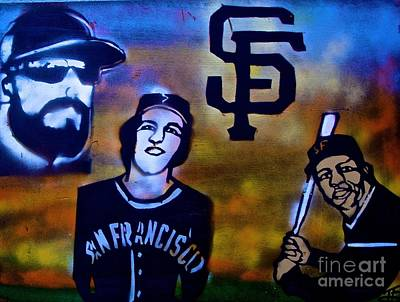 Willie Mays Painting - San Fran Giants by Tony B Conscious