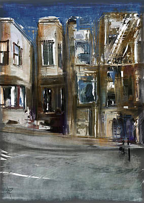 Mixed Media - San Fran Street by Russell Pierce