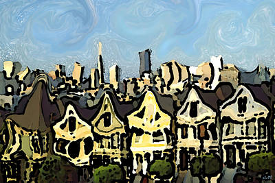 Painting - San Francisco California - Abstract Modern Art by Art America Gallery Peter Potter