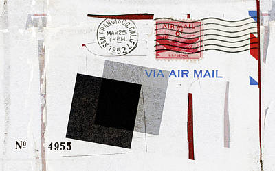 San Francisco 1952 Air Mail Art Print
