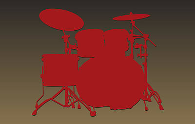 San Francisco 49ers Drum Set Print by Joe Hamilton