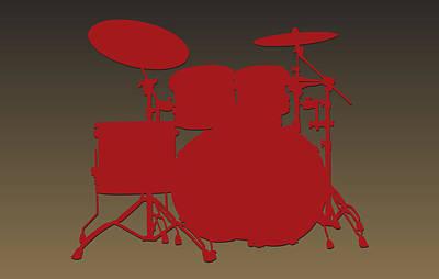 San Francisco 49ers Drum Set Art Print by Joe Hamilton