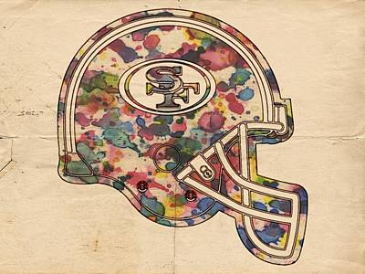 Painting - San Francisco 49ers Helmet Poster by Florian Rodarte