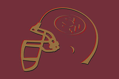 San Francisco 49ers Helmet1 Art Print by Joe Hamilton