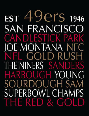 Subway Art Digital Art - San Francisco 49ers by Jaime Friedman