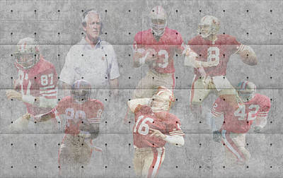 San Francisco 49ers Legends Art Print by Joe Hamilton