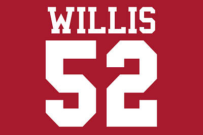 San Francisco 49ers Patrick Willis Art Print by Joe Hamilton