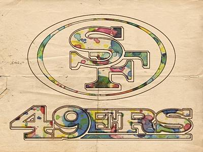 Painting - San Francisco 49ers Poster Vintage by Florian Rodarte