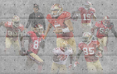 San Francisco 49ers Team Art Print by Joe Hamilton