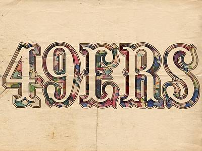 Painting - San Francisco 49ers Vintage Logo by Florian Rodarte