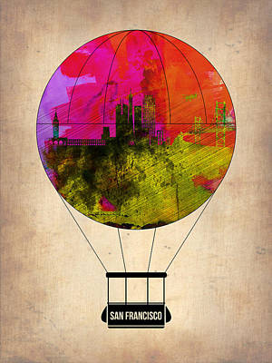 San Francisco Air Balloon 1 Art Print by Naxart Studio