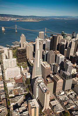 Helicopter Photograph - San Francisco Aloft by Steve Gadomski