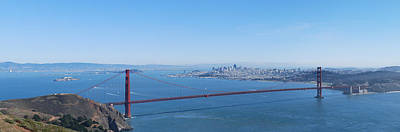 San Francisco And The Golden Gate Bridge Art Print