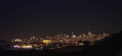 Photograph - San Francisco At Night by Alex King