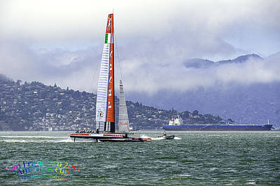 Photograph - San Francisco Bay   America's Cup 2013   by LeeAnn McLaneGoetz McLaneGoetzStudioLLCcom