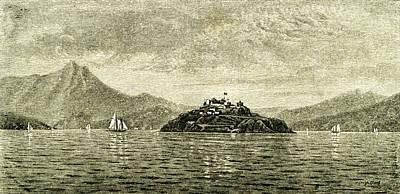 San Francisco Bay And Alcatraz Island 1891 Usa Art Print