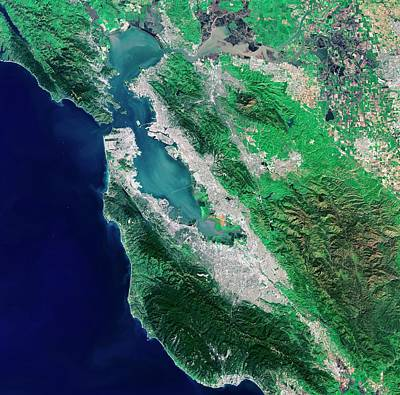 San Francisco Bay Area Art Print by European Space Agency/usgs