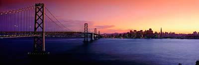 San Francisco Bay At Sunset Art Print by Panoramic Images