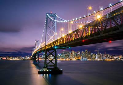 Photograph - San Francisco Bay Bridge And Skyline by Jerome Obille