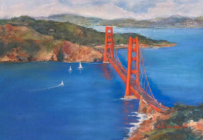 Painting - San Francisco Bay Bridge by Hilda Vandergriff