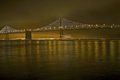 Photograph - San Francisco-bay Bridge by SC Heffner