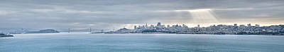 Photograph - San Francisco Bay Morning Panorama  by Gregory Ballos