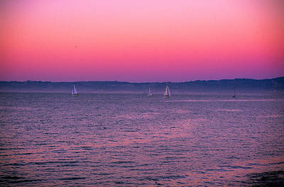 Photograph - San Francisco Bay Sailing At Dusk by Jeremy Herman