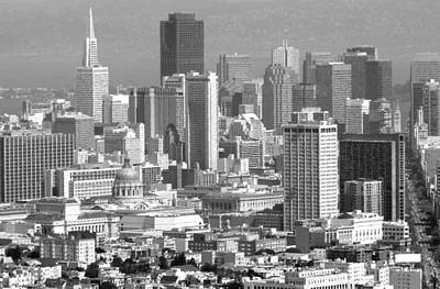Photograph - San Francisco Black And White by Jeff Lowe