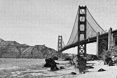 San Francisco Bridge 3 Art Print by Yury Malkov