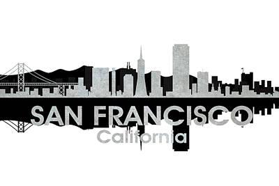 Icon Mixed Media - San Francisco Ca 4 by Angelina Vick