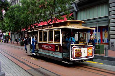 San Francisco Cable Car Art Print by SFPhotoStore