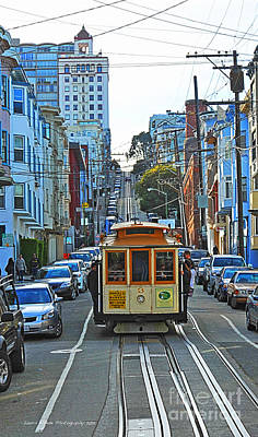 San Francisco Cable Car To Powell And Market Streets Art Print
