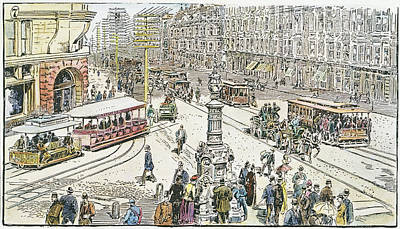 San Francisco Cable Cars Art Print by Granger