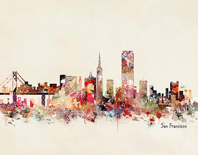 Painting - San Francisco California by Bri B