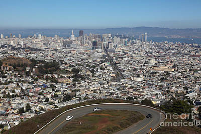 Birdseye View Photograph - San Francisco California From Twin Peaks 5d28034 by Wingsdomain Art and Photography