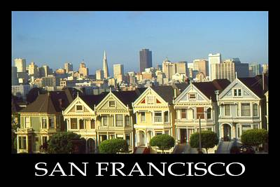 Photograph - San Francisco California Poster - Alamo Square by Art America Gallery Peter Potter