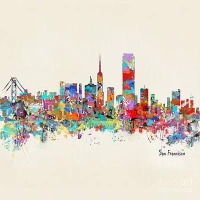 Painting - San Francisco California Skyline by Bri B