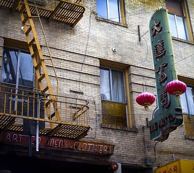 San Francisco Chinatown Golden Escape Art Print by SFPhotoStore