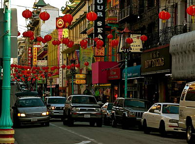 Photograph - San Francisco Chinatown Traffic by Michele Myers