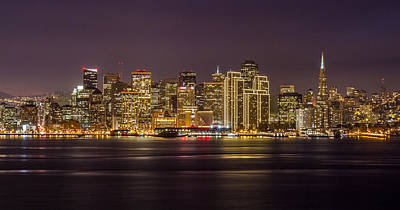 Photograph - San Francisco City At Night by Pierre Leclerc Photography
