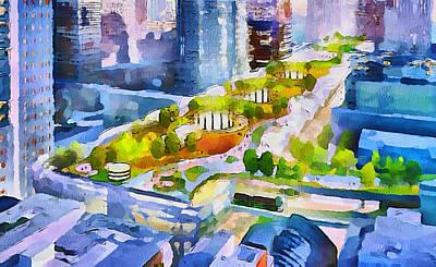 San Francisco City View 3 Art Print by Yury Malkov