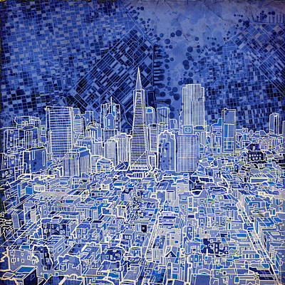 Painting - San Francisco Cityscape 4 by Bekim Art