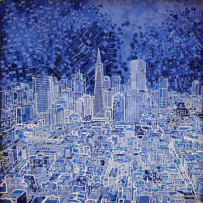 Painting - San Francisco Cityscape 4 by Bekim Art