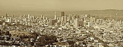 Photograph - San Francisco Cityscape From Twin Peaks by SC Heffner