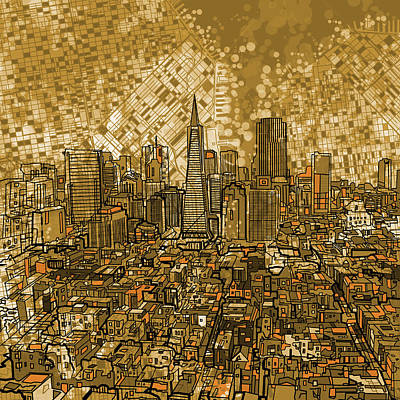 Painting - San Francisco Cityscape by Bekim Art