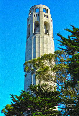 San Francisco - Coit Tower - 01 Art Print by Gregory Dyer